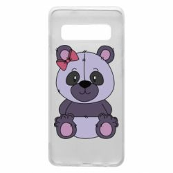 Чохол для Samsung S10 Purple Teddy Bear
