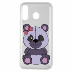 Чохол для Samsung M30 Purple Teddy Bear