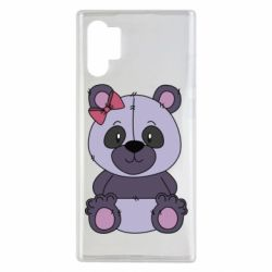 Чохол для Samsung Note 10 Plus Purple Teddy Bear