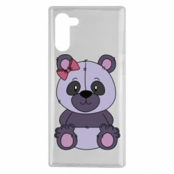 Чохол для Samsung Note 10 Purple Teddy Bear