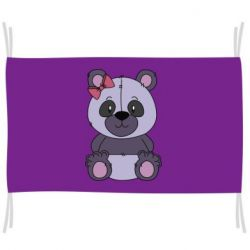 Прапор Purple Teddy Bear