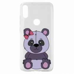 Чохол для Xiaomi Mi Play Purple Teddy Bear