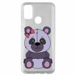 Чохол для Samsung M30s Purple Teddy Bear