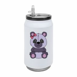 Термобанка 350ml Purple Teddy Bear