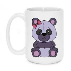 Кружка 420ml Purple Teddy Bear