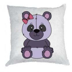 Подушка Purple Teddy Bear