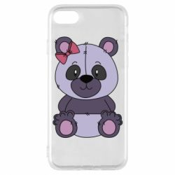 Чохол для iPhone 8 Purple Teddy Bear