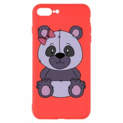 Чохол для iPhone 8 Plus Purple Teddy Bear
