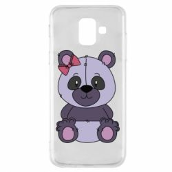 Чохол для Samsung A6 2018 Purple Teddy Bear