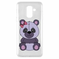 Чохол для Samsung A6+ 2018 Purple Teddy Bear