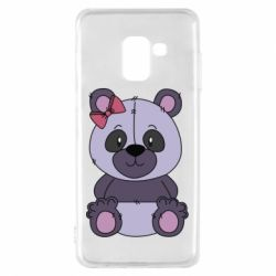 Чохол для Samsung A8 2018 Purple Teddy Bear
