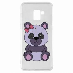 Чохол для Samsung A8+ 2018 Purple Teddy Bear