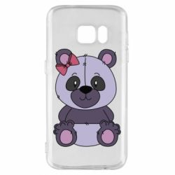 Чохол для Samsung S7 Purple Teddy Bear