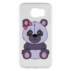 Чохол для Samsung S6 Purple Teddy Bear