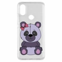 Чохол для Xiaomi Mi A2 Purple Teddy Bear