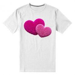 Купить Мужская стрейчевая футболка Пушистое сердце, FatLine
