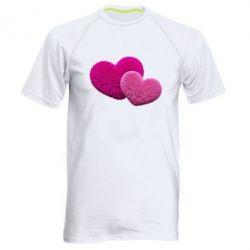 Купить Мужская спортивная футболка Пушистое сердце, FatLine