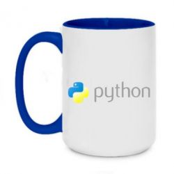 Кружка двоколірна 420ml Python