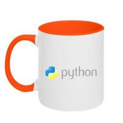 Кружка двоколірна 320ml Python