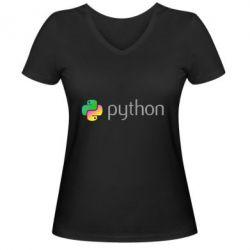Жіноча футболка з V-подібним вирізом Python