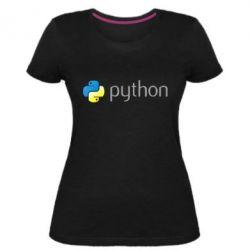 Жіноча стрейчева футболка Python