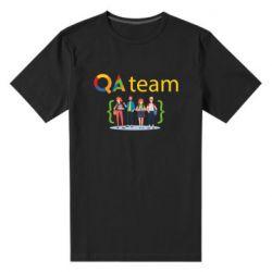 Мужская стрейчевая футболка QA+TEAM