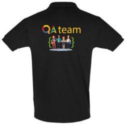 Мужская футболка поло QA+TEAM