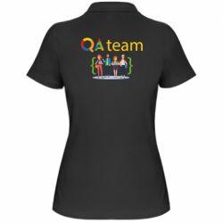 Женская футболка поло QA+TEAM