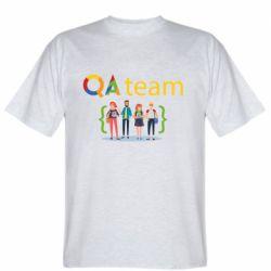 Мужская футболка QA+TEAM