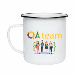 Кружка эмалированная QA+TEAM