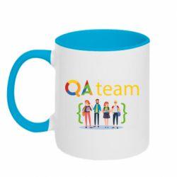 Кружка двухцветная 320ml QA+TEAM