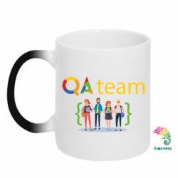 Кружка-хамелеон QA+TEAM
