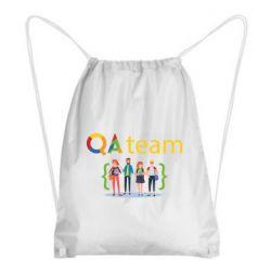 Рюкзак-мешок QA+TEAM