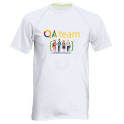 Мужская спортивная футболка QA+TEAM