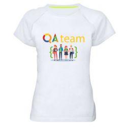Женская спортивная футболка QA+TEAM