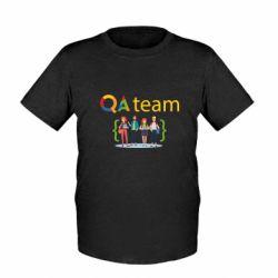 Детская футболка QA+TEAM