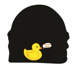 Шапка на флісі Quack-quack fuck!