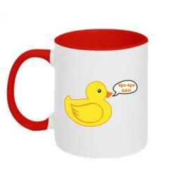 Кружка двоколірна 320ml Quack-quack fuck!
