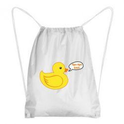 Рюкзак-мішок Quack-quack fuck!