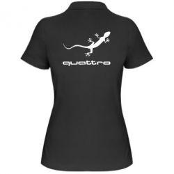 Женская футболка поло Quattro - FatLine