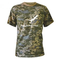 Камуфляжная футболка Quattro - FatLine