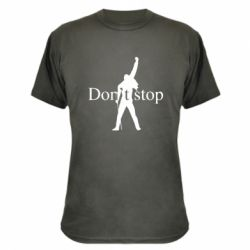 Камуфляжна футболка Queen Don't stop