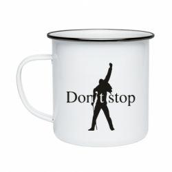Кружка емальована Queen Don't stop