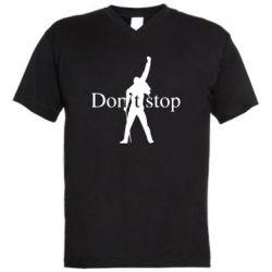 Чоловіча футболка з V-подібним вирізом Queen Don't stop