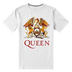 Мужская стрейчевая футболка Queen logo 1