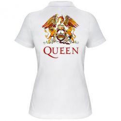 Женская футболка поло Queen logo 1