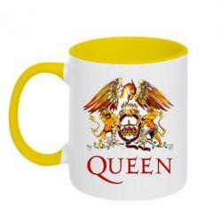 Кружка двухцветная Queen logo 1