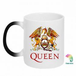 Кружка-хамелеон Queen logo 1