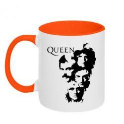 Кружка двухцветная Queen music