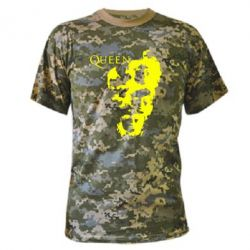 Камуфляжная футболка Queen music